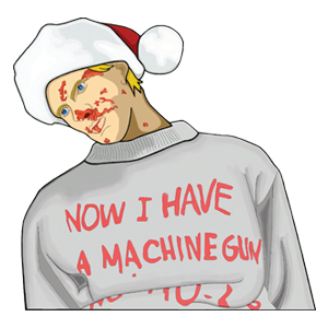 Now I have a machine gun Ho-Ho-Ho Vinyl Christmas Sticker