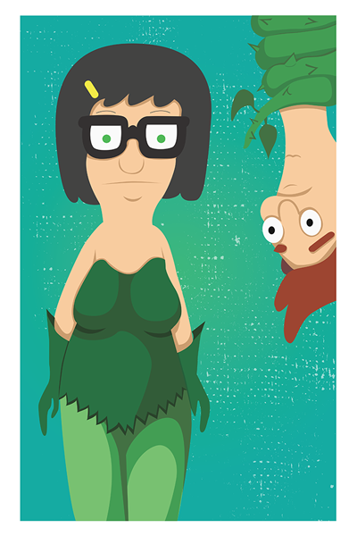 11x17 Boy-Crazed Plant Girl Hi-res Digital Print