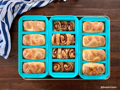 challah baked in the souper cubes trays