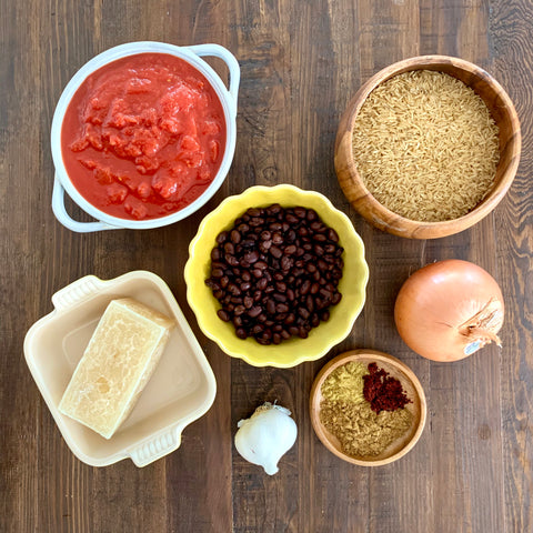 Mexican Brown Rice and Beans Ingredients