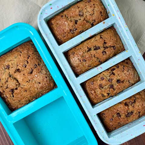 baked zucchini bread in souper cubes 1cup and 2cup trays