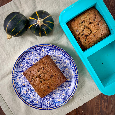 zucchini bread baked in 2cup souper cube tray