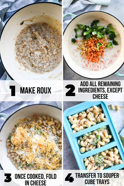 how to make veggie mac and cheese step by step