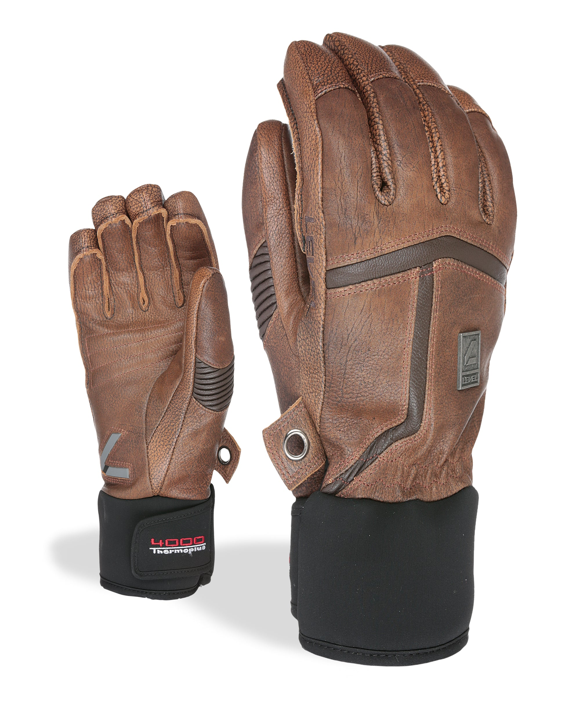 Off Piste Leather Ski Gloves