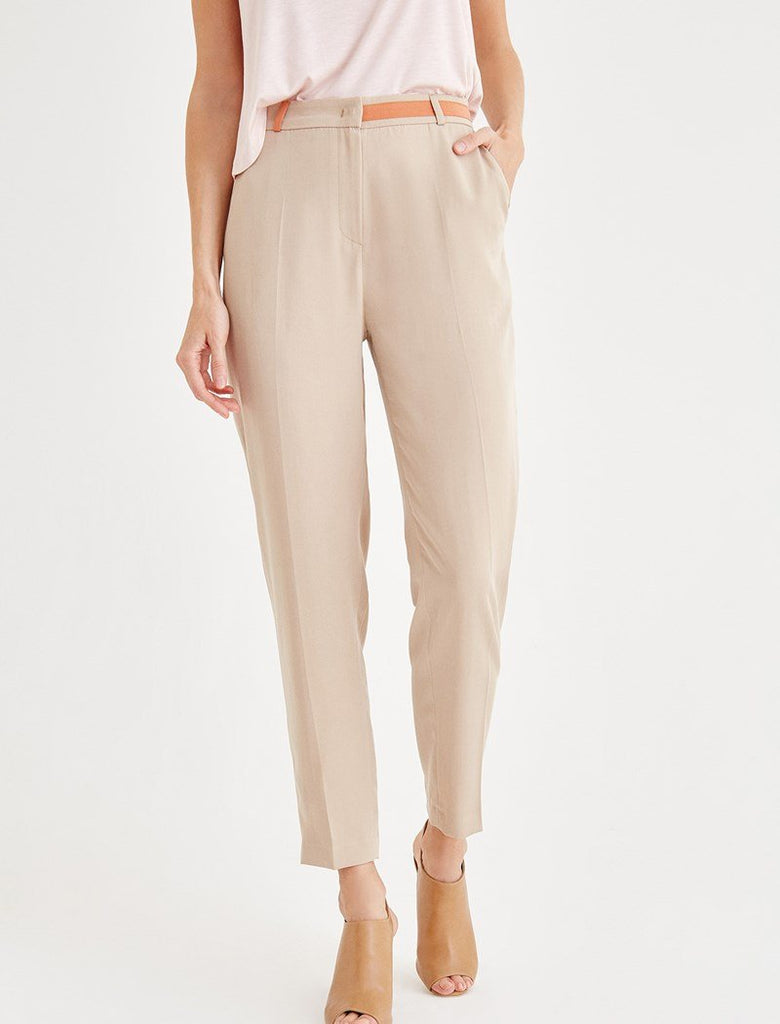 Pockets Contrast Color Pants