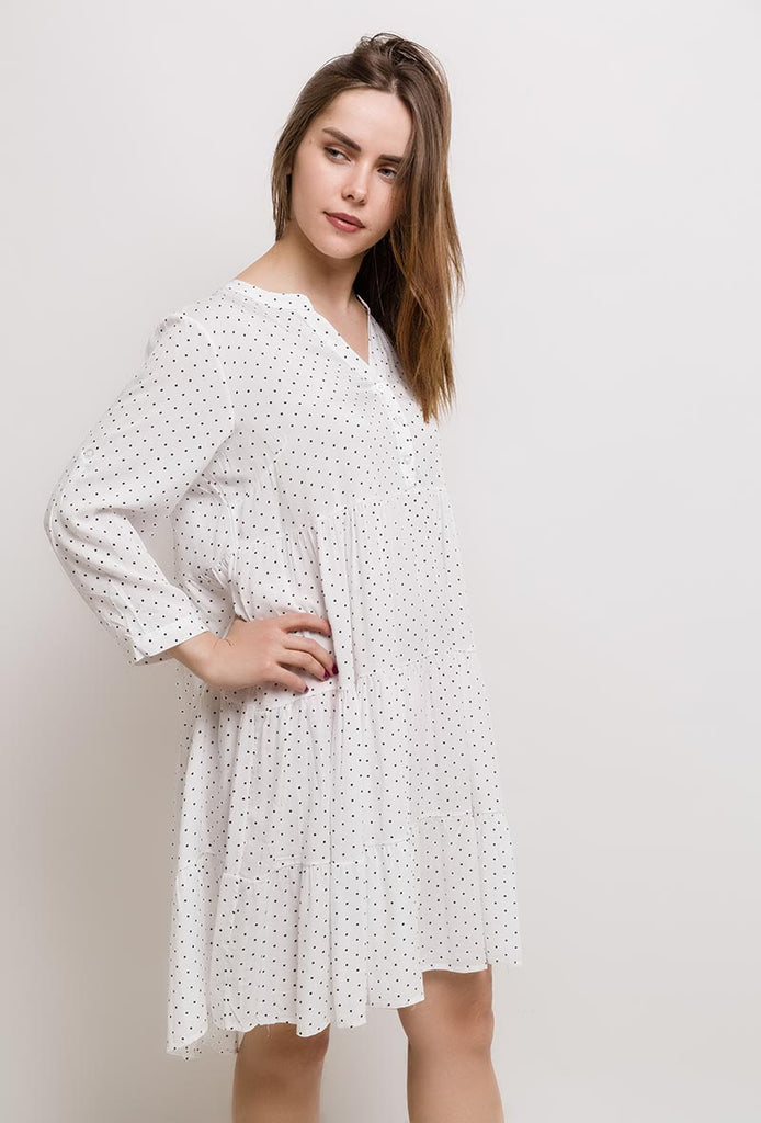 Spotted Viscose Dress