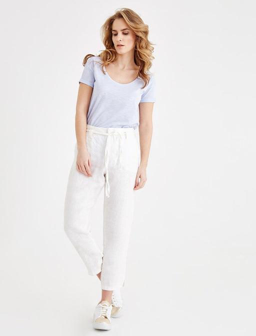 White Waist Pants Detail