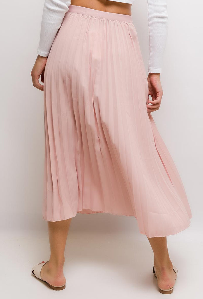 Pleated Midi Skirt