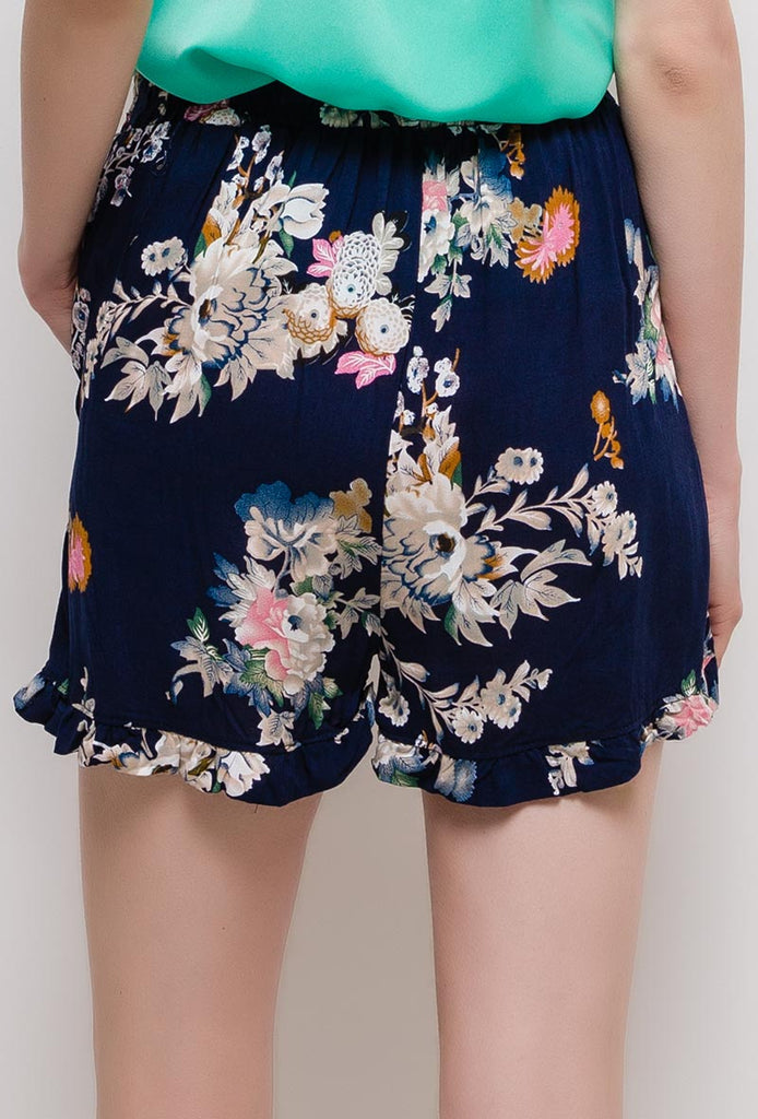 Printed Flowers Shorts