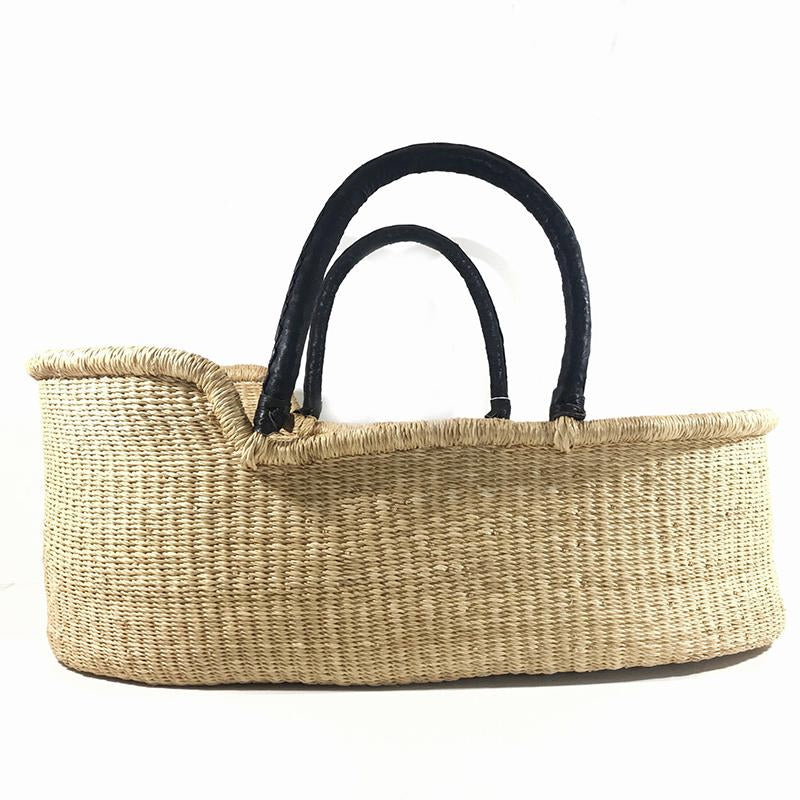 Natural baby moses basket