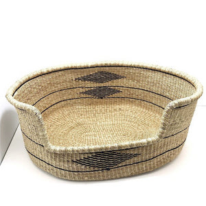 natural dog bed wicker