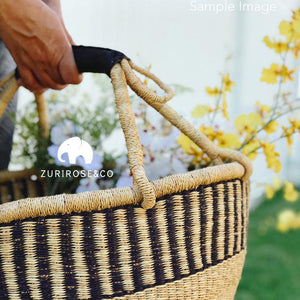 wicker basket and beach basket