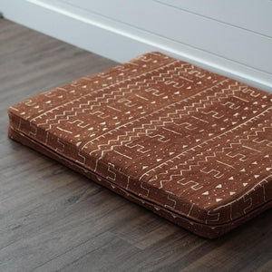MudCloth Dog Bed - XL African MudCloth Dog Bed