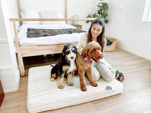 MudCloth Dog Bed - XXL African MudCloth Dog Bed