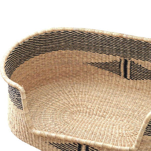 wicker rattan dog bed