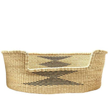 Load image into Gallery viewer, wicker dog basket natural