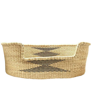wicker dog basket natural