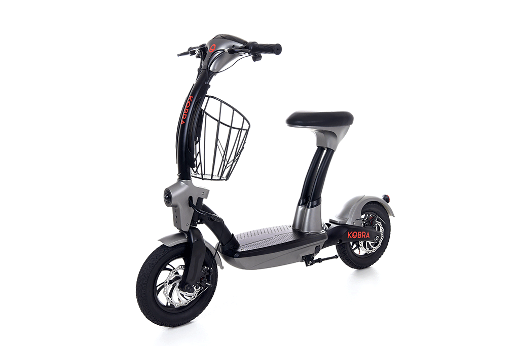 Kobra Seated E-Scooter is perfect for the commuter looking for comfort, durability and performance.