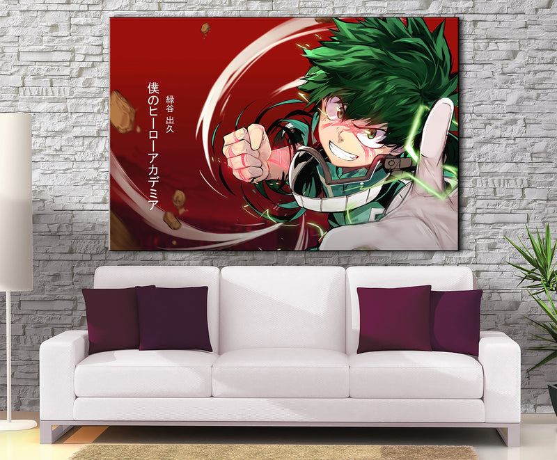 Décoration murale My Hero Academia Izuku Attack