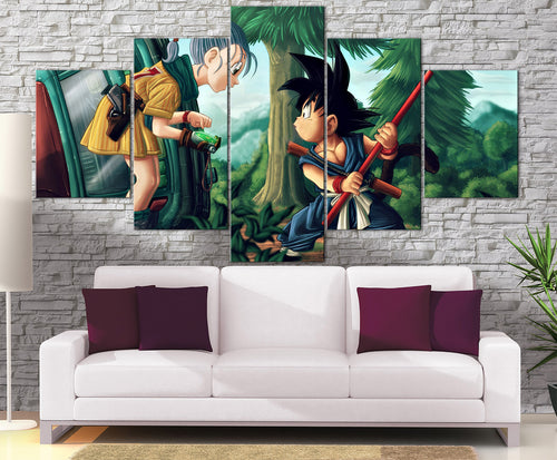 Décoration Murale Dragon Ball Z Goku Kid X Bulma-Monde Déco