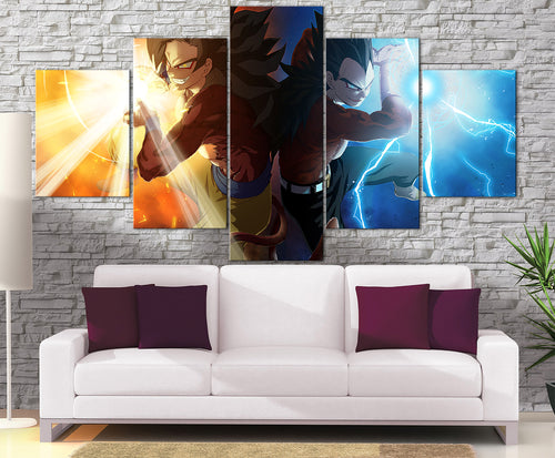 Décoration Murale Dragon Ball GT Goku X Vegeta SSJ4-Monde Déco