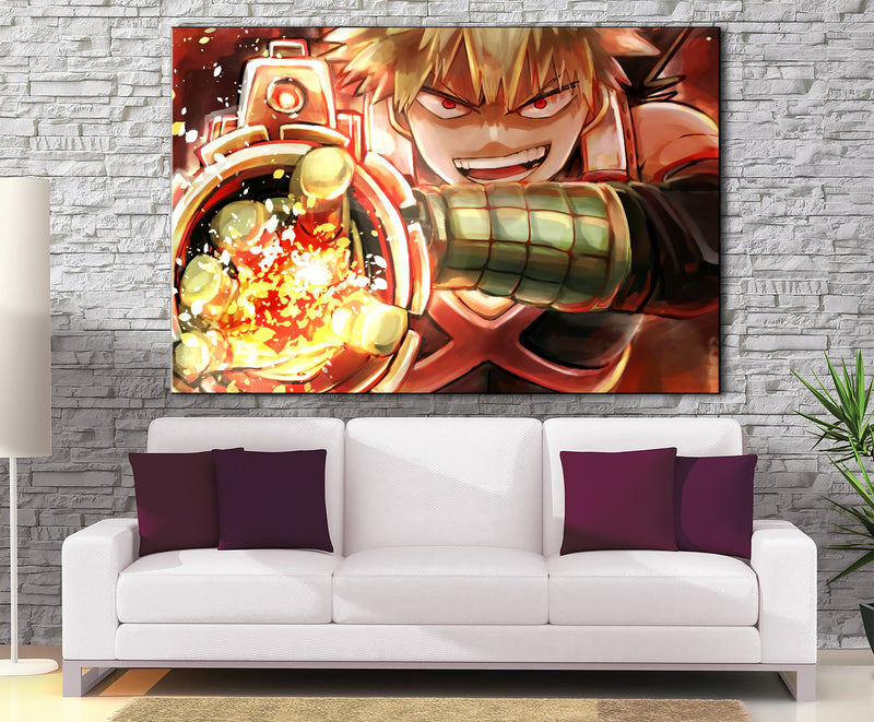 Décoration murale My Hero Academia Katsuki Attack