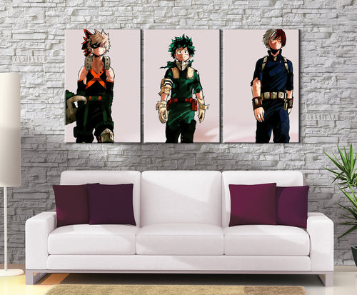 Décoration murale My Hero Academia Katsuki X Shoto X Izuku