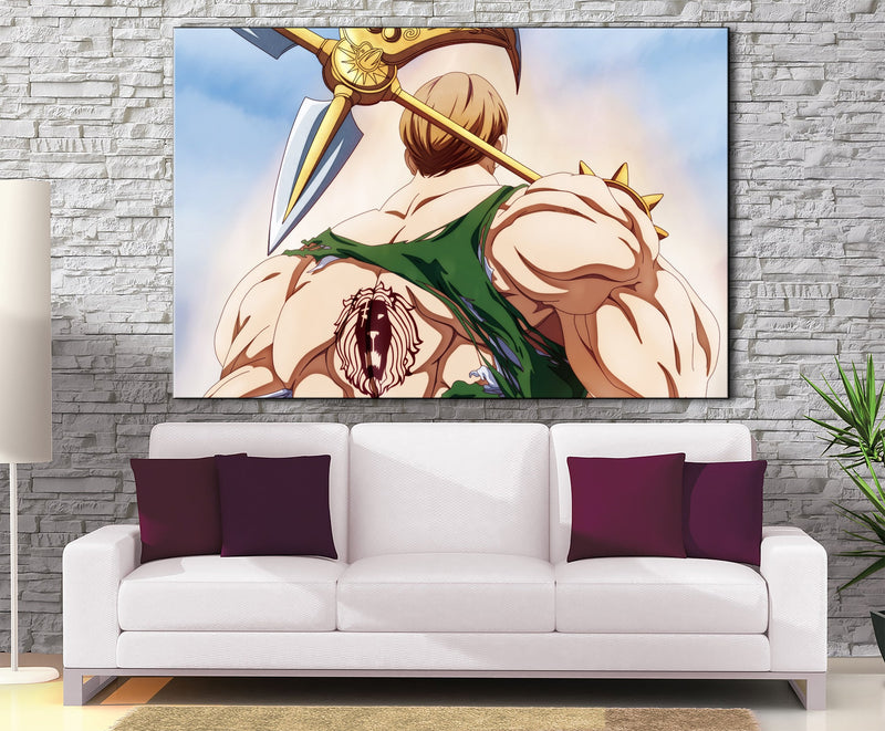 Décoration murale Nanatsu No Taizai Escanor Fight