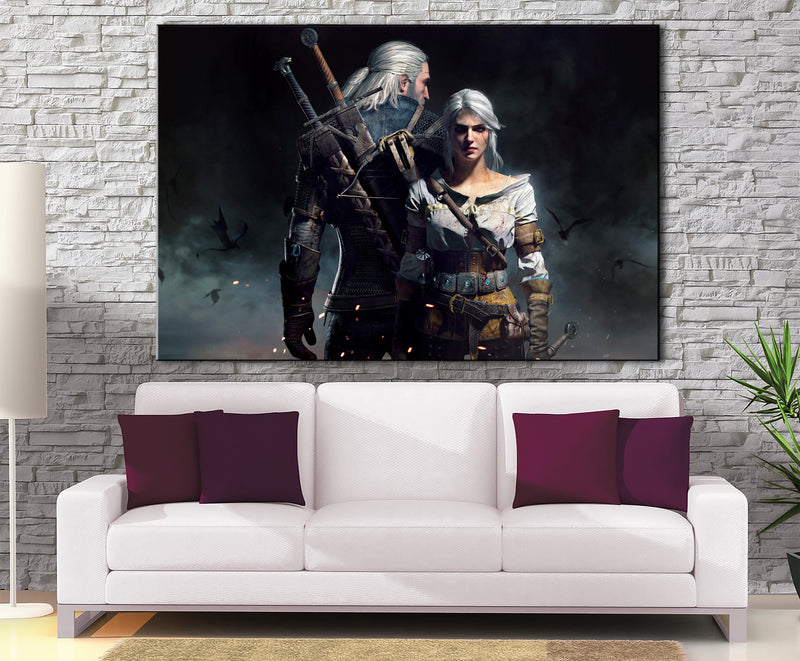 Décoration Murale The Witcher Geralt X Ciri