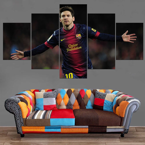 Décoration Murale Football Lionel Messi-Monde Déco