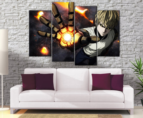 Décoration Murale One Punch Man Genos Attack