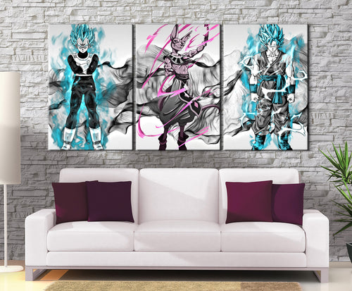 Décoration Murale Dragon Ball Super Goku X Vegeta Beerus-Monde Déco