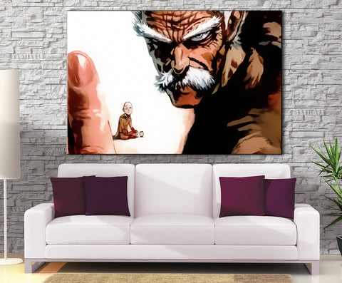 Décoration Murale One Punch Man Saitama X Silver Fang