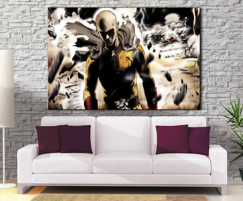 Décoration Murale One Punch Man Saitama Destruction