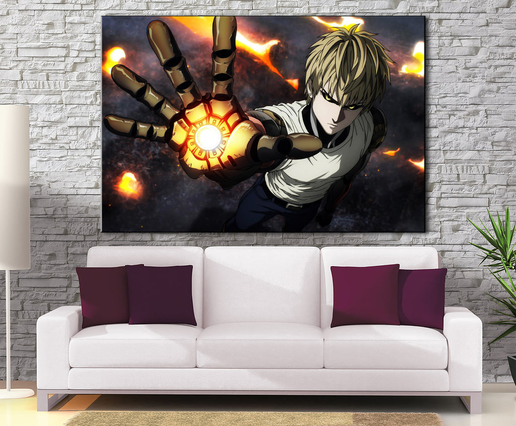 Décoration Murale One Punch Man Genos Attack-Monde Déco