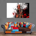 Décoration Murale Deadpool Painting-Monde Déco