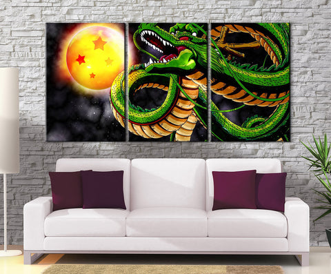 Décoration Murale Dragon Ball Z Invocation Shenron