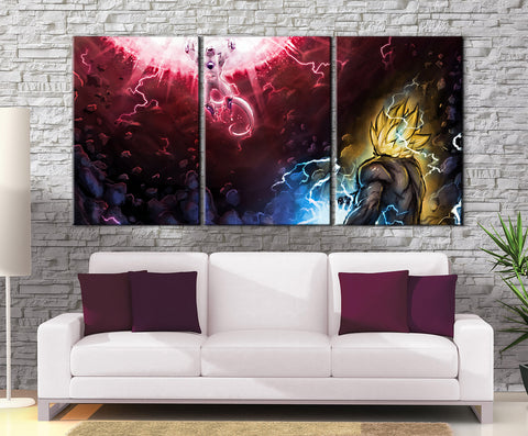 Décoration Murale Dragon Ball Z Goku Vs Freeza