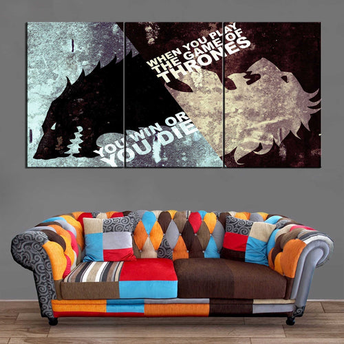 Décoration Murale Games Of Thrones Win Or Die-Monde Déco