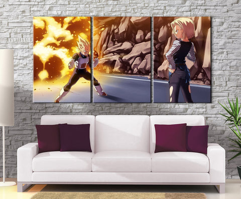 Décoration Murale Dragon Ball Z Vegeta Vs C18