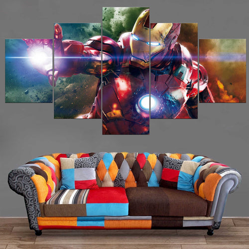 Décoration Murale Avengers Iron Man Attack-Monde Déco