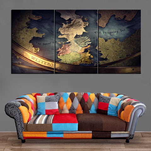Décoration Murale Games Of Thrones Westeros
