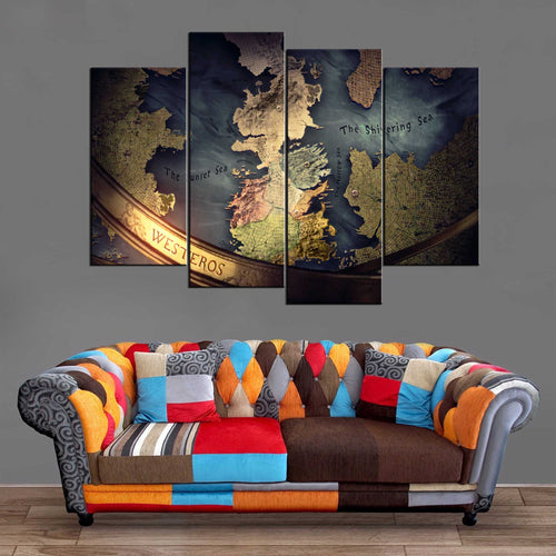 Décoration Murale Games Of Thrones Westeros-Monde Déco