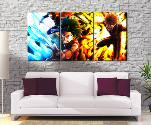 Décoration murale My Hero Academia Trio Izuku & Shoto & Bakuko