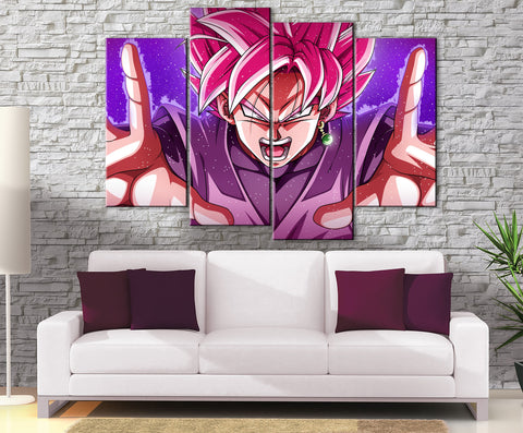 Décoration Murale Dragon Ball Super Black SSJ Rosé