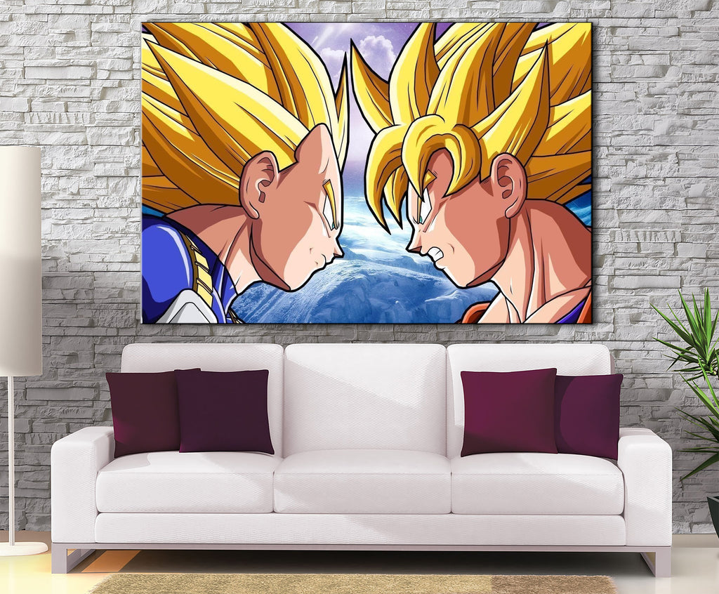 Décoration Murale Dragon Ball Z Goku Vs Vegeta-Monde Déco