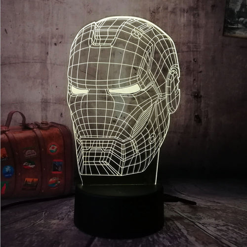 Lampe Led Iron Man en 7 couleurs