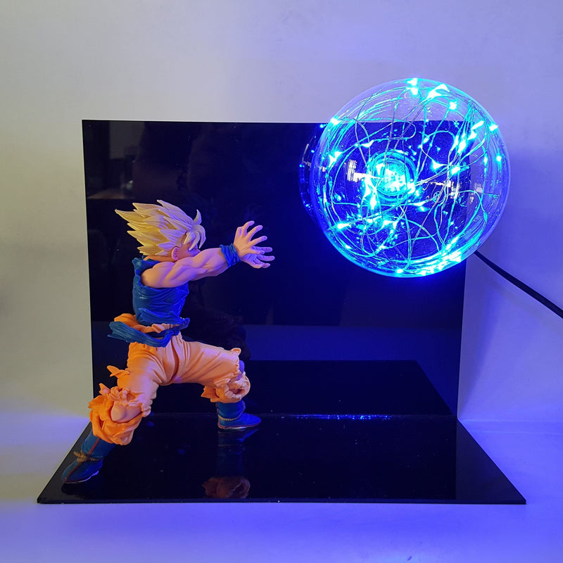 Lampe Dragon Ball Z Goku Super Saiyan Blue Kamehameha