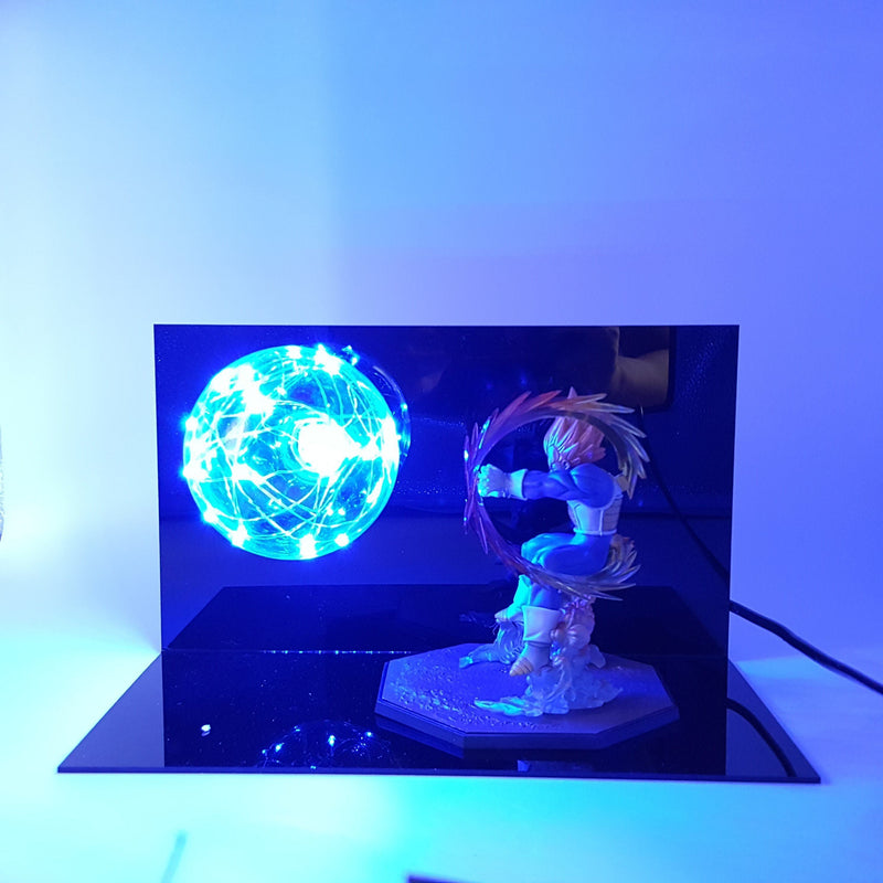 Lampe Dragon Ball Z Vegeta Attack Blue Light