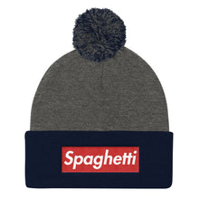 Load image into Gallery viewer, Spaghetti Pom Pom Knit Cap